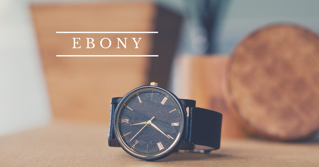 Ebony Watch, Wood Watch for Him