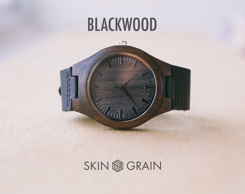 Blackwood From Classica | Custom Wood Watch With Leather Strap | 43mm
