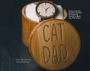 Cat Dad Gift Box | Upgraded Wood Box | Keepsake Box |