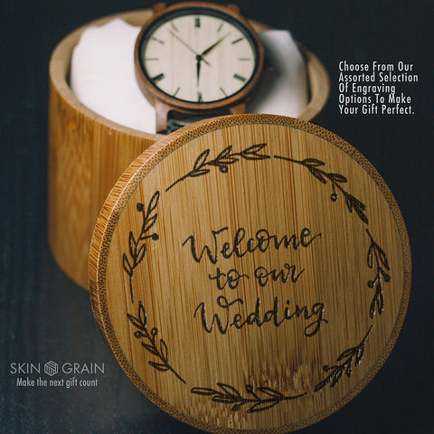 Wedding Invitation Gift Box | Upgraded Wood Box | Tasteful Box for your Groomsmen Watches