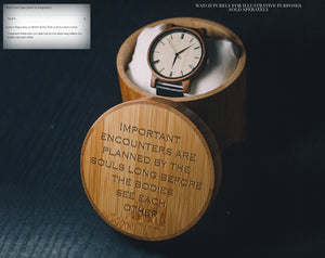 For Engraving Custom Images/Text | Bamboo Gift Box | Wood Box |