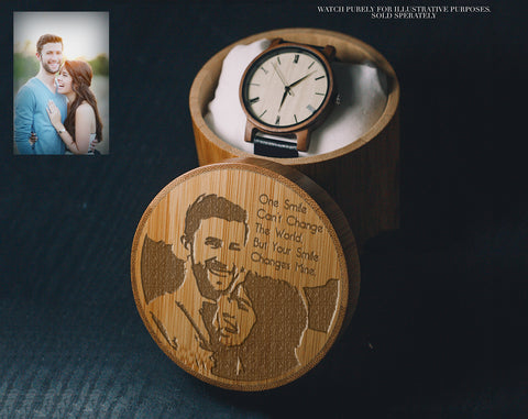 For Engraving Photographs | Bamboo Gift Box | Wood Box |