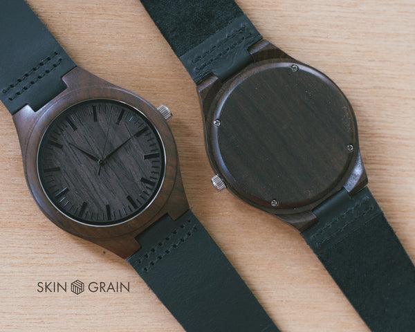 THE BLACKWOOD | Wood Watch With Leather Strap