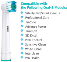 8 Replacement Electric Toothbrush Heads (For Braun Oral B Soft Bristle, Vitality Dual Clean/Professional Care SmartSeries)