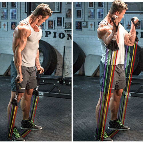 11 Piece Resistance Bands Set