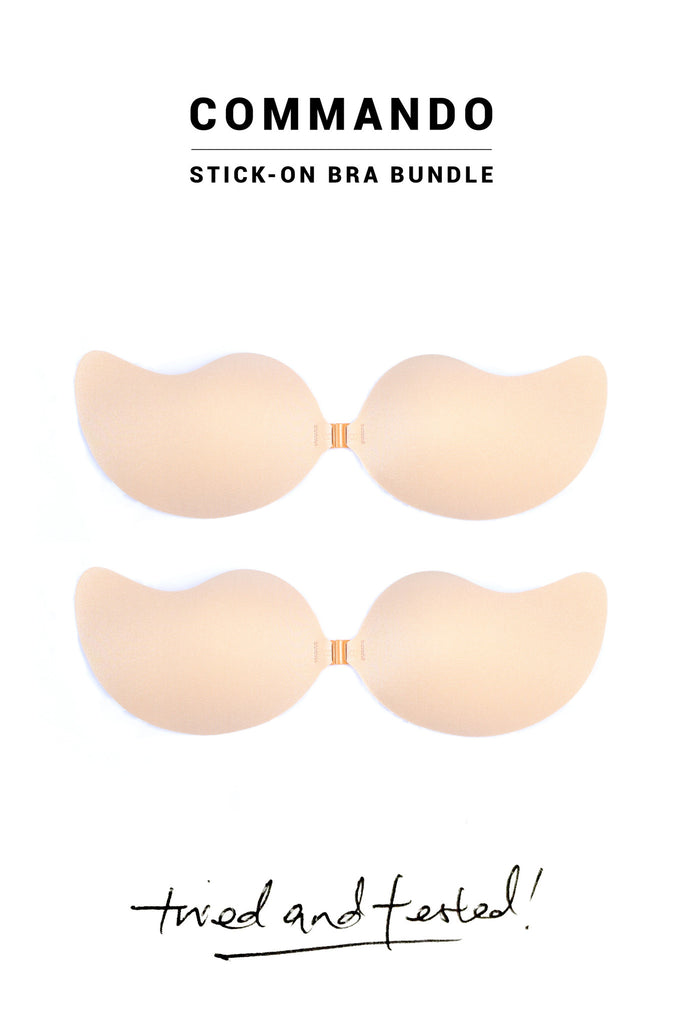 BUNDLE SET - Commando Stick-On Bra in Nude