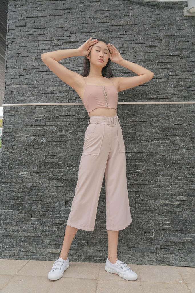 Parallel Pants in Rosewater Pink