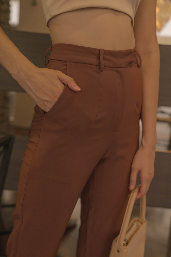 *Back Order* Back To Business Pants in Penny Brown