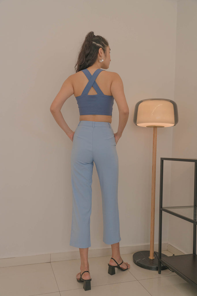 Back To Business Pants in Powder Blue