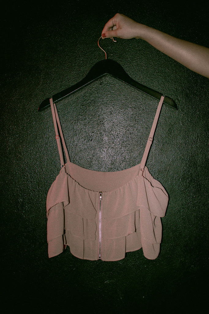 Cotton Candy Top in Mauve Brown