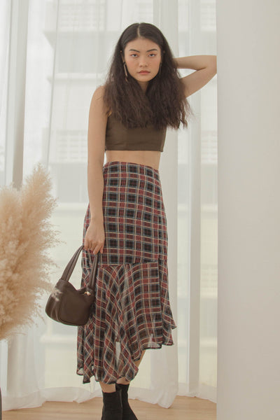 *Back Order* Go With The Flow Skirt in Checkered
