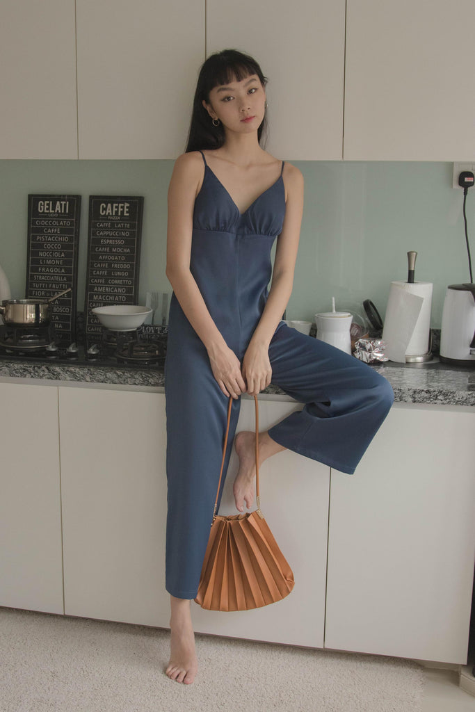 Lights Out Jumpsuit in Aegan Blue