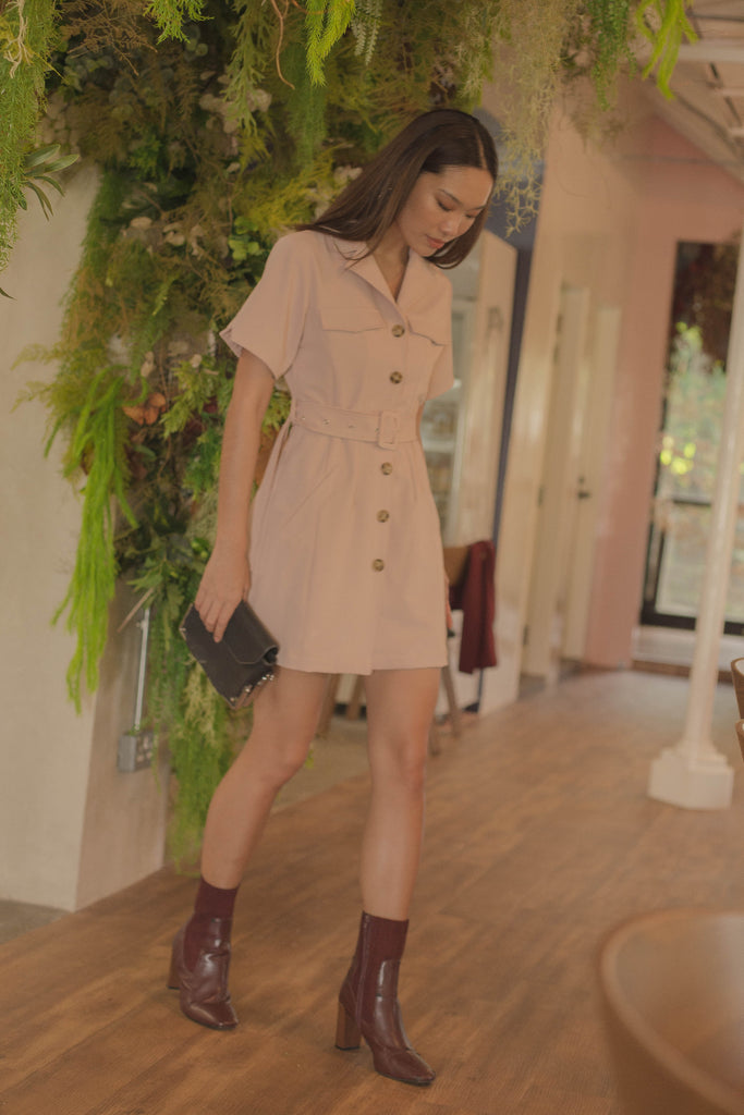 Heavy Duty Dress in Soft Pink