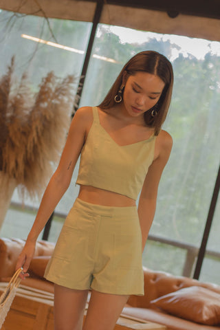 *Back Order* Heroine Skirt in Vine Green
