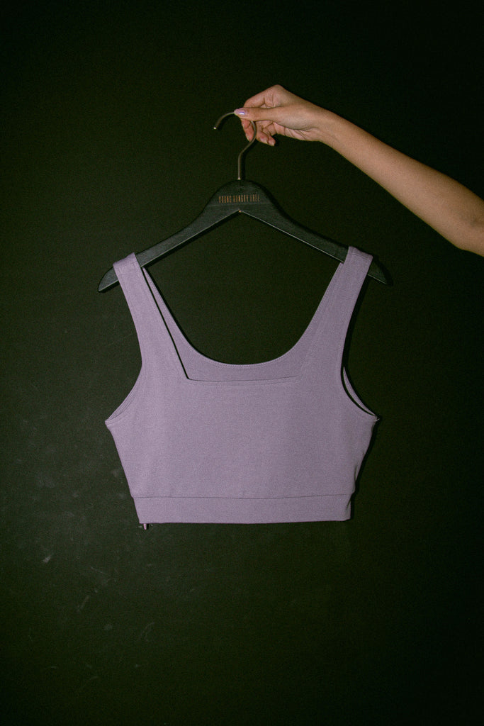 Two Timer Top in Light Lavender Grey