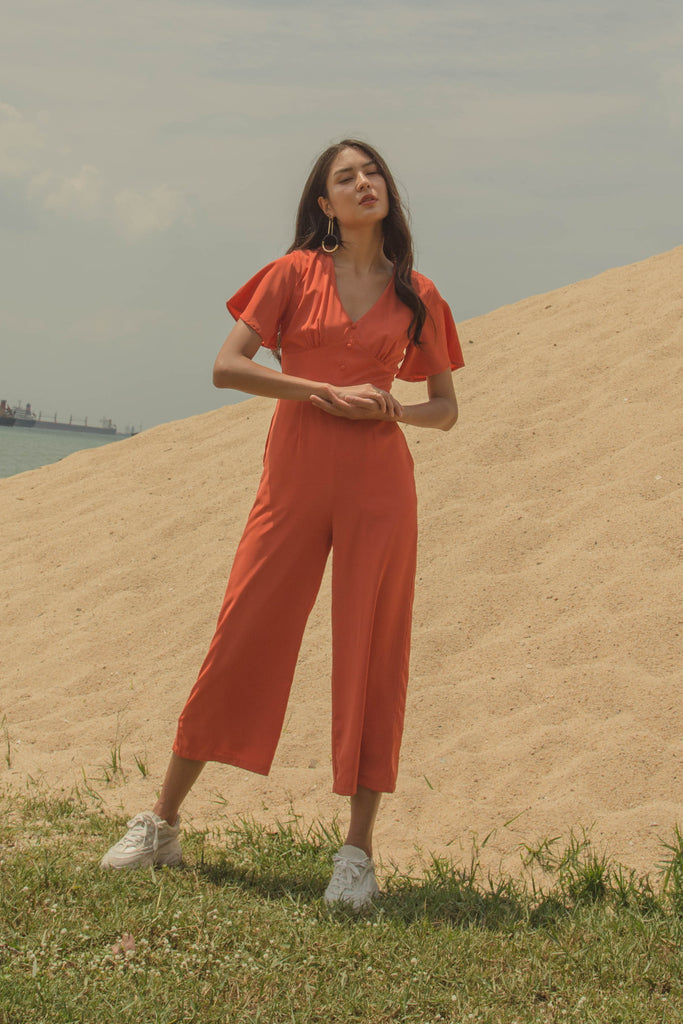 Jumpstart Jumpsuit in Papaya Orange