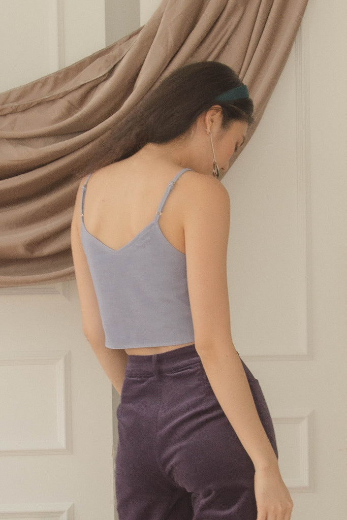 Irregular Top in Heather Blue