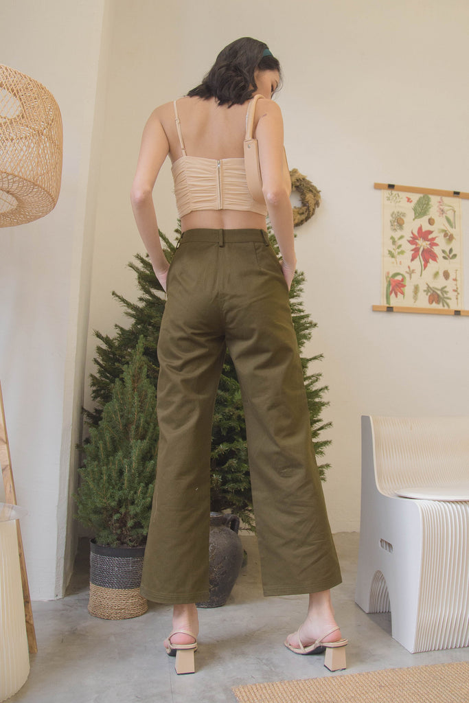 In Too Deep Pants in Khaki Green