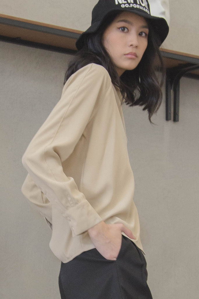 Last Resort Shirt in Rice Paper Beige