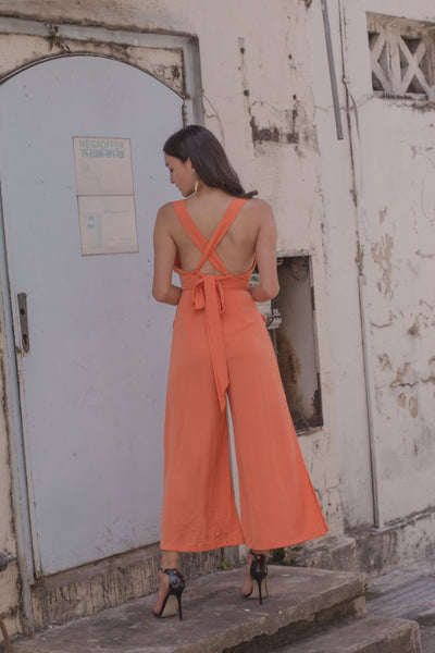 Volatile Jumpsuit in Temple Orange