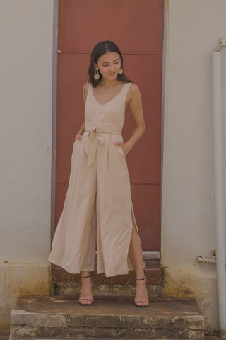Indifference Romper in Nude