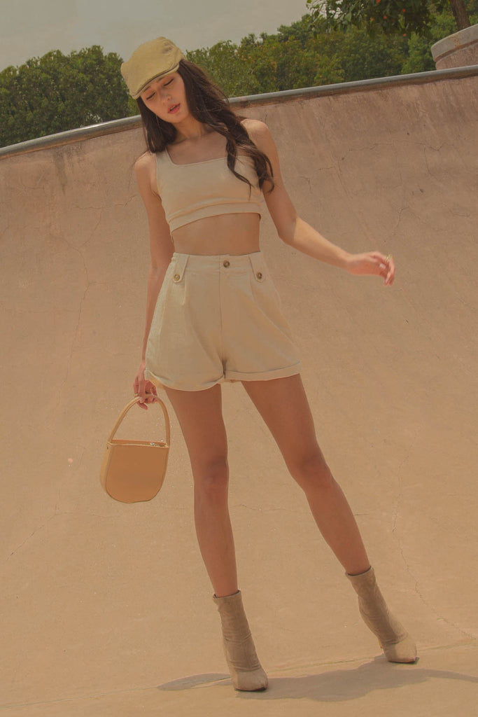 *Back Order* Necessity Shorts in Ivory Beige