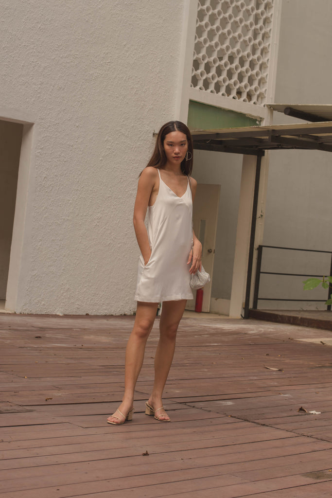 Perspective Dress in White