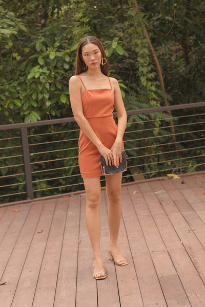 Align Dress in Salmon Orange
