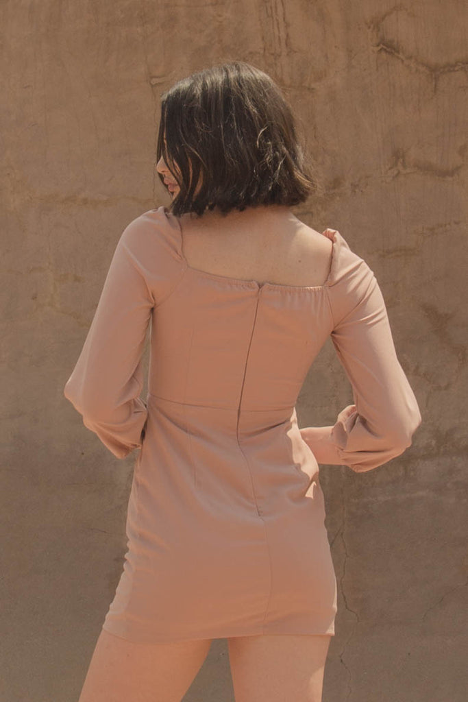 Intertwine Dress in Ash Rose