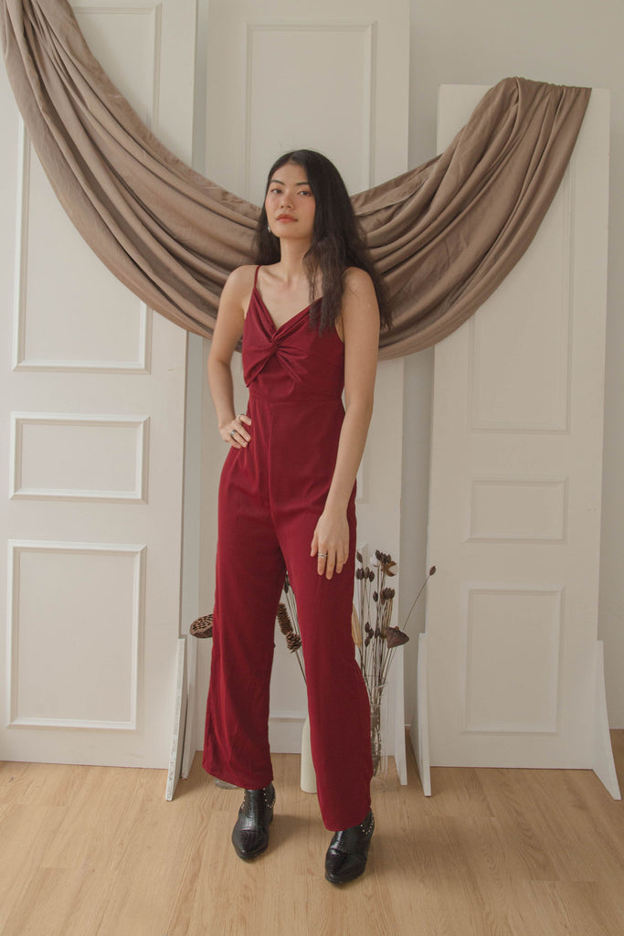 Knock Out Jumpsuit in Master Red