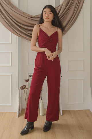 Iridescent Romper in Red