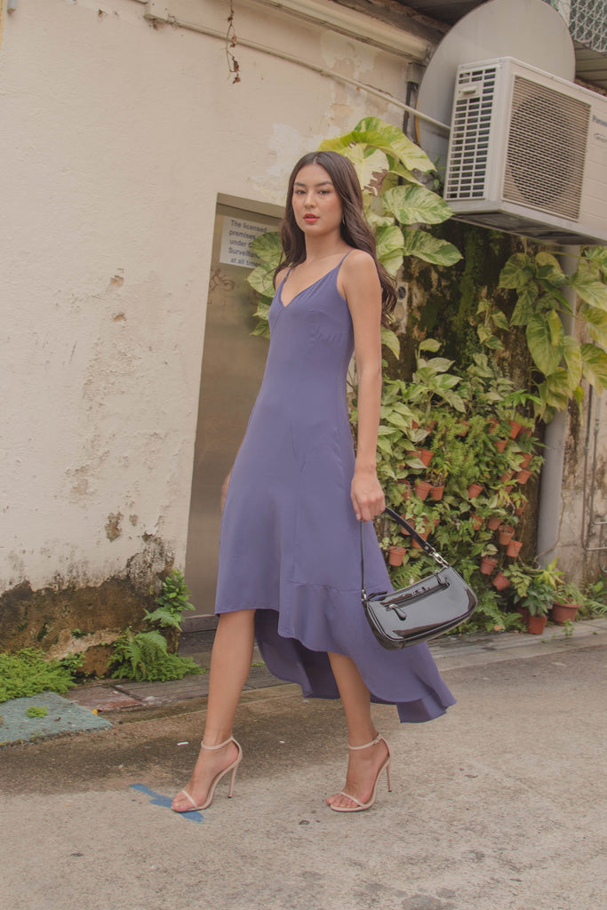 Nonconformity Midi in Periwinkle Purple