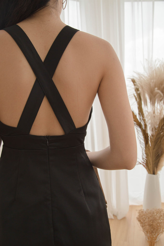 After Hours Romper in Black