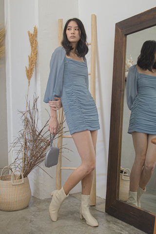 Sunday Fit Dress in Light Blue