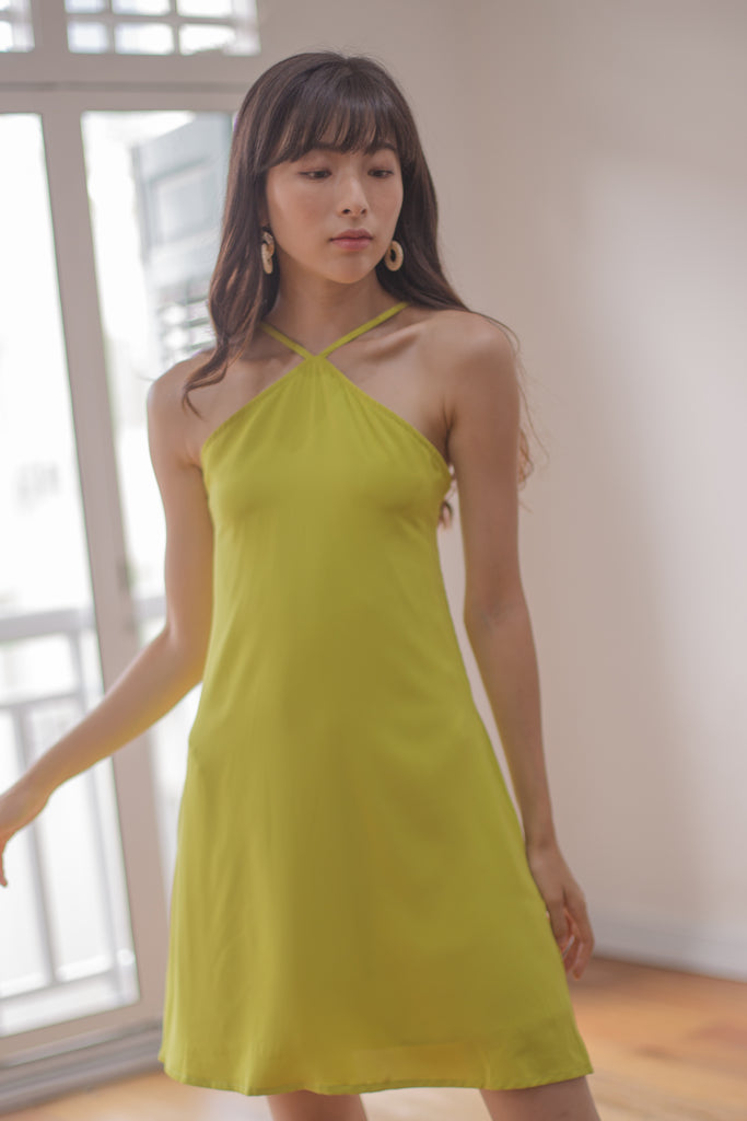 Apex Dress in Lime