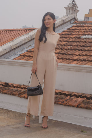 Deconstruct Buckle Jumpsuit in White