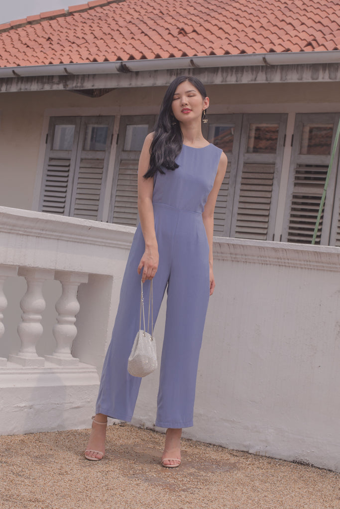 Drop It Jumpsuit in Periwinkle Blue