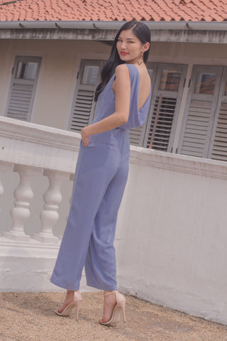 Sash Away Jumpsuit in Brick Red