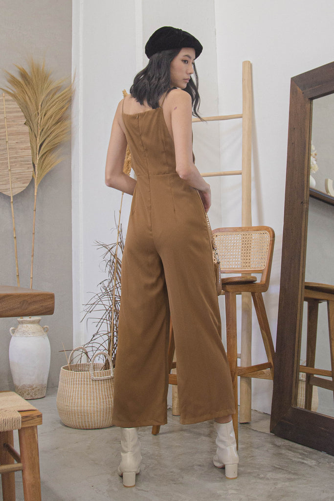 New Year's Jumpsuit in Autumn Brown