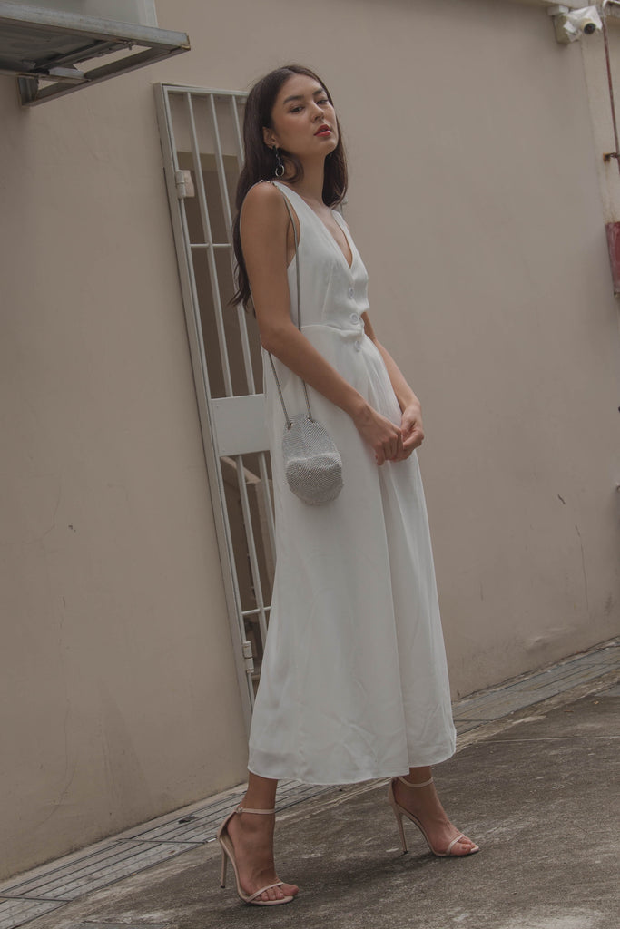 Crossroads Jumpsuit in White
