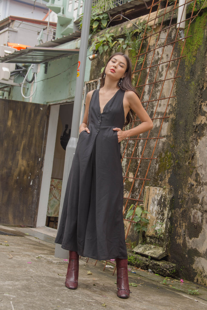 *Back Order* Crossroads Jumpsuit in Black