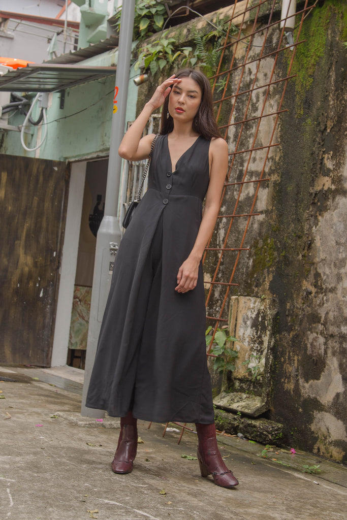 Crossroads Jumpsuit in Black