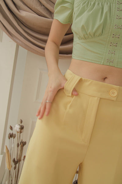 Vocational Pants in Straw Yellow