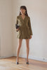Executive Romper in Army Green