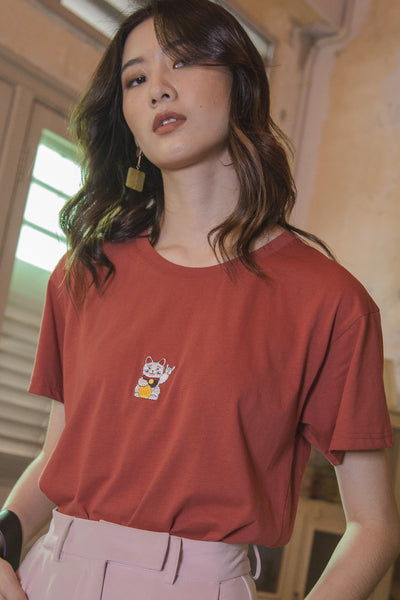 #YHFAATFAAT Tee in Red