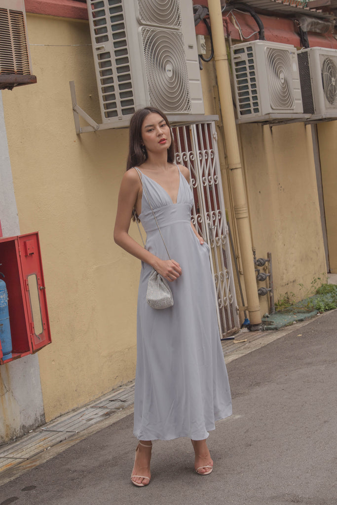 *Back Order* Honeymoon Maxi in Frost Grey
