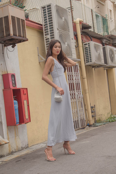 Honeymoon Maxi in Frost Grey