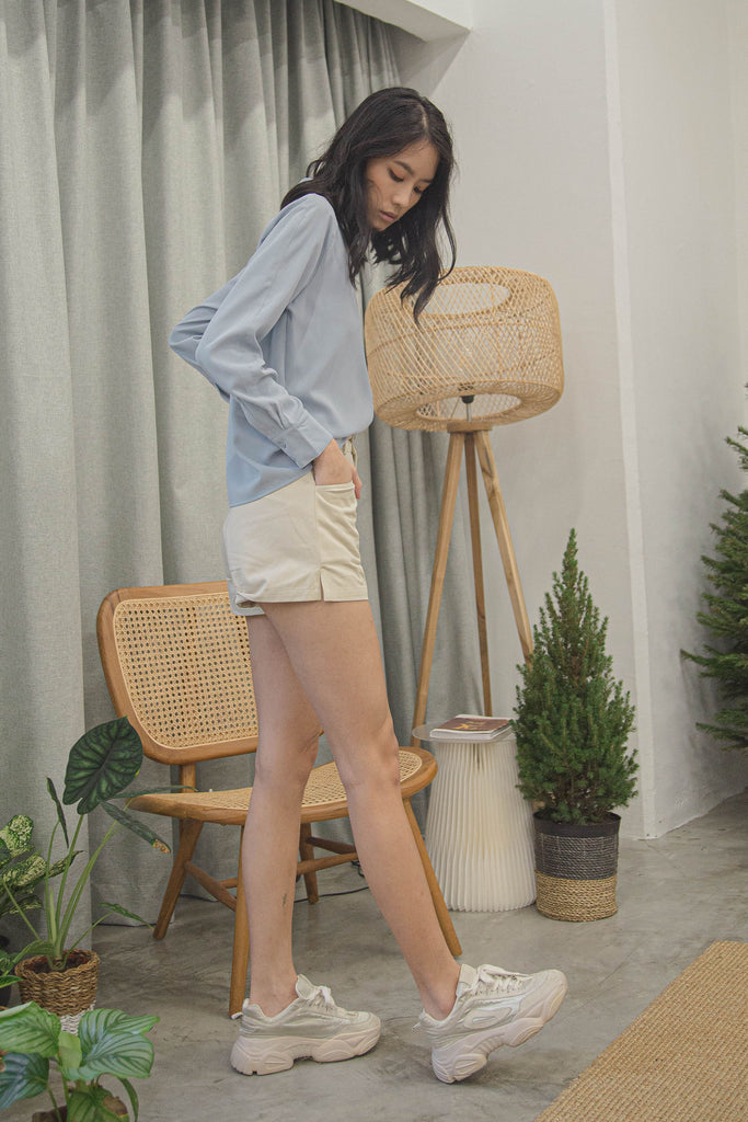 Trace Together Shorts in Winter Beige