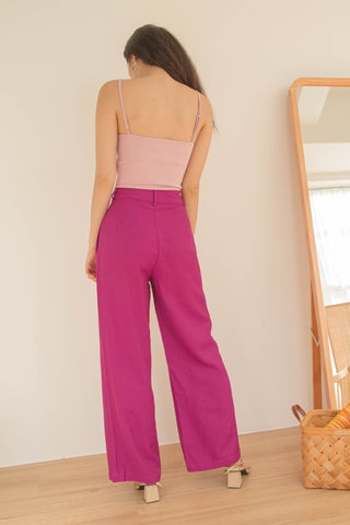 *BACK ORDER* On A Roll Pants in Dusty Pink