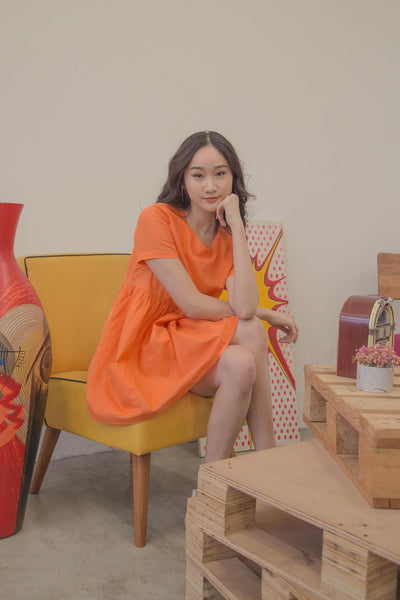 BBG Dress in Sunshine Orange